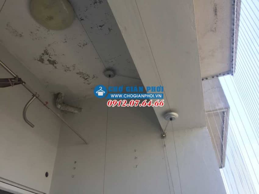 Lắp đặt giàn phơi HP999B và lưới An toàn ban công tại Kiến Hưng – Hà Đông – Hà Đông cho nhà Anh Thương