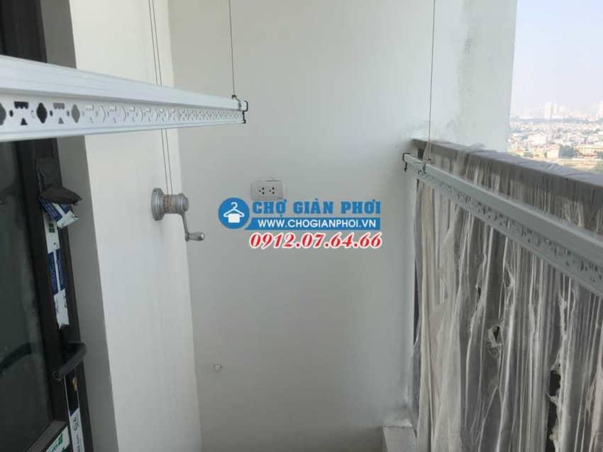 Lắp đặt giàn phơi KS950 tại chung cư Techco Tứ Hiệp – Thanh trì cho nhà Chị Hương