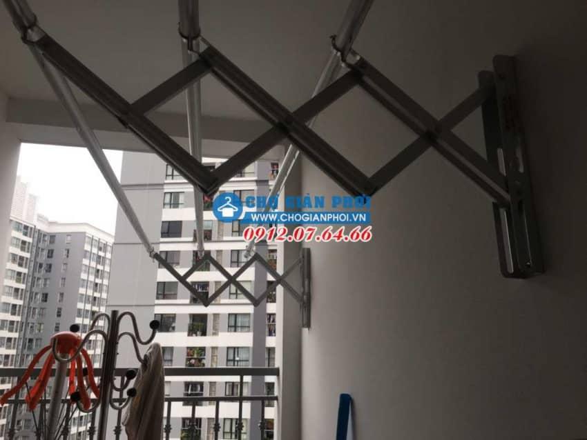 Lắp đặt giàn phơi Xếp Đài Loan HT-11 tại Time City – Hai Bà Trưng cho nhà Chị Vân