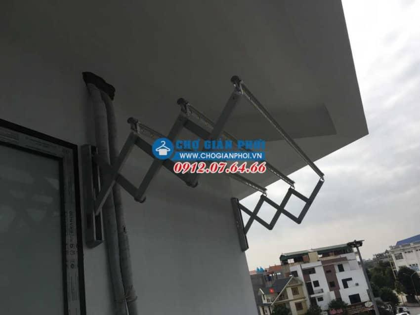 Lắp giàn phơi gắn tường Hàn Quốc Sinsung SU-100 tại Khoái Châu, Hưng Yên cho nhà Anh Thái