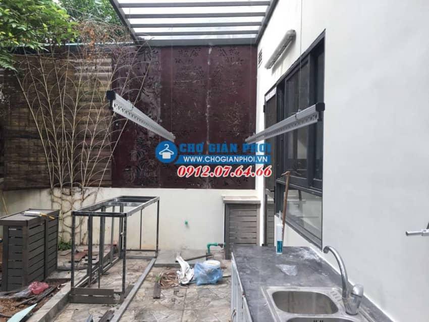Lắp đặt giàn phơi HP999B tại Vinhome Thăng Long – Hoài Đức cho nhà Cô Nguyệt