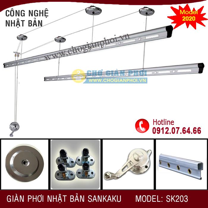 Giàn Phơi Thông Minh SANKAKU SK203 (Model 2020)