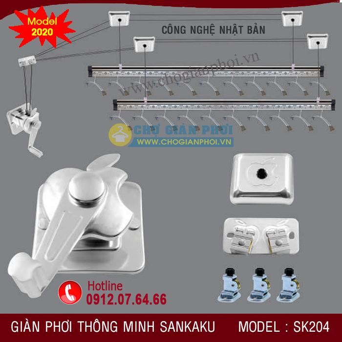 Giàn Phơi Thông Minh SANKAKU SK204 (Model 2021)