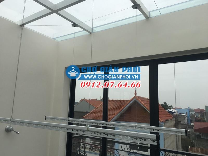 Lắp đặt giàn phơi thông minh Hòa Phát KS950 tại Linh Quy,  Bắc Sơn – Nhà Chị Thắm