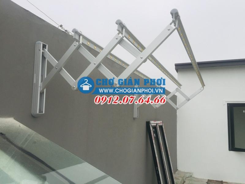 Lắp giàn phơi gắn tường Hàn Quốc Sinsung SU-100 tại Hưng Yên cho nhà Cô Nguyệt