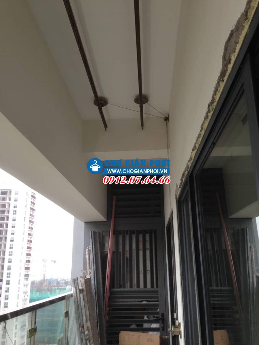 Lắp đặt giàn phơi Sankaku Chung Cư GoldMark city 136 Hồ Tùng Mậu – Chú Dũng