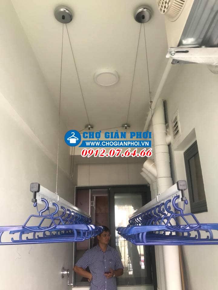 Lắp đặt giàn phơi thông minh chung cư HP701 chung cư Ecolife Tây Hồ – Bác Toàn
