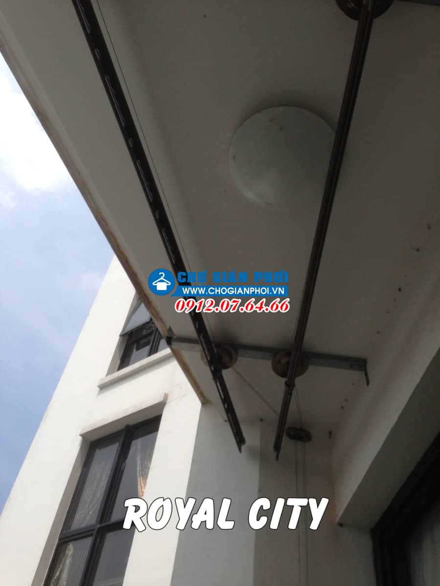 Lắp đặt giàn phơi thông minh chung cư Royal City – Sankaku S07 nhà Anh Dũng
