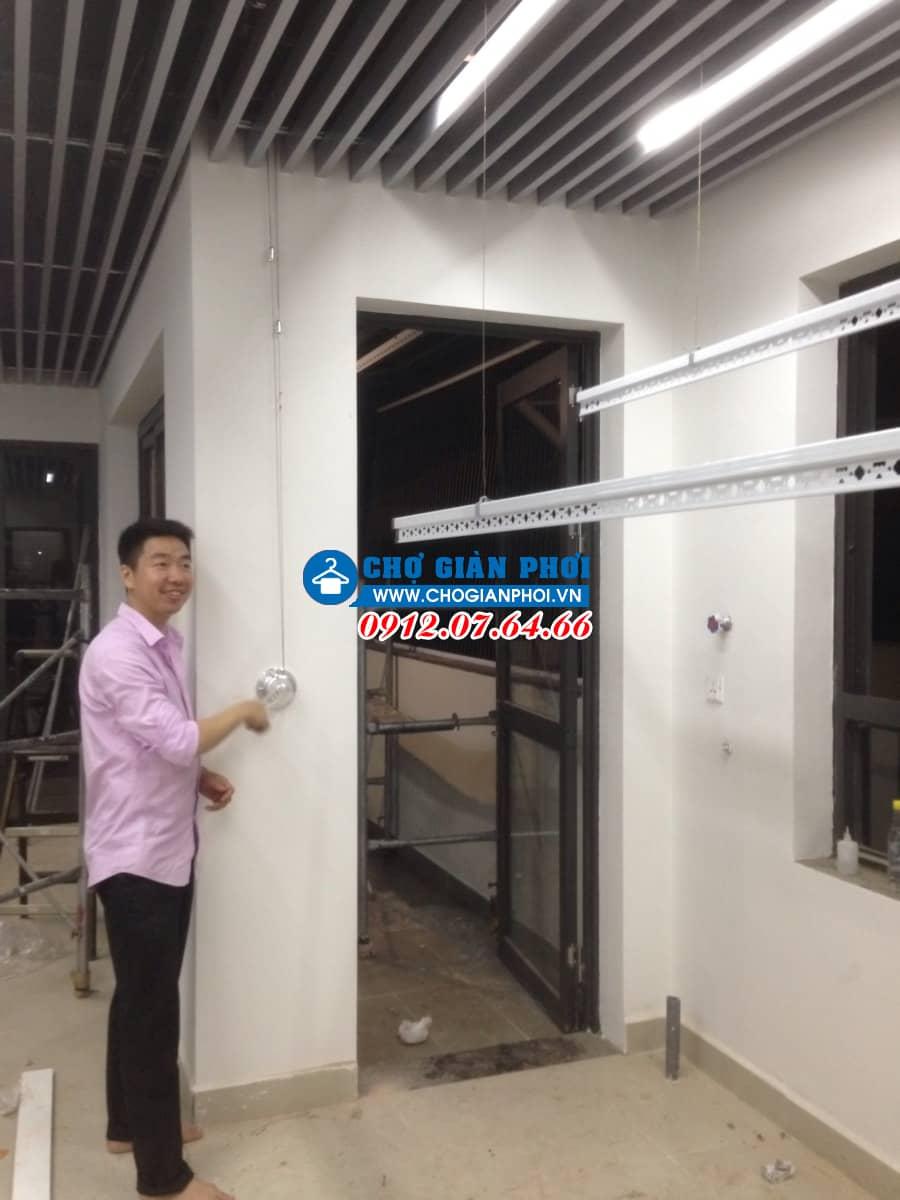Lắp đặt Giàn phơi thông minh Hòa Phát Air HP-701 và lưới an toàn- Vinhome Thăng Long