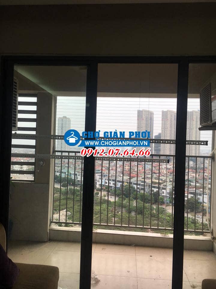 Lắp đặt giàn phơi thông minh KS950 và lưới an toàn chung cư An Bình City – Nhà Chị Nhung