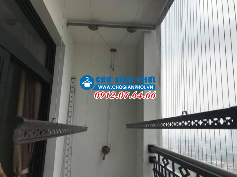 Lắp đặt giàn phơi thông minh Sankaku nhà chị Thắm – Chung cư Royal City – Nguyễn Trãi – Hà Nội