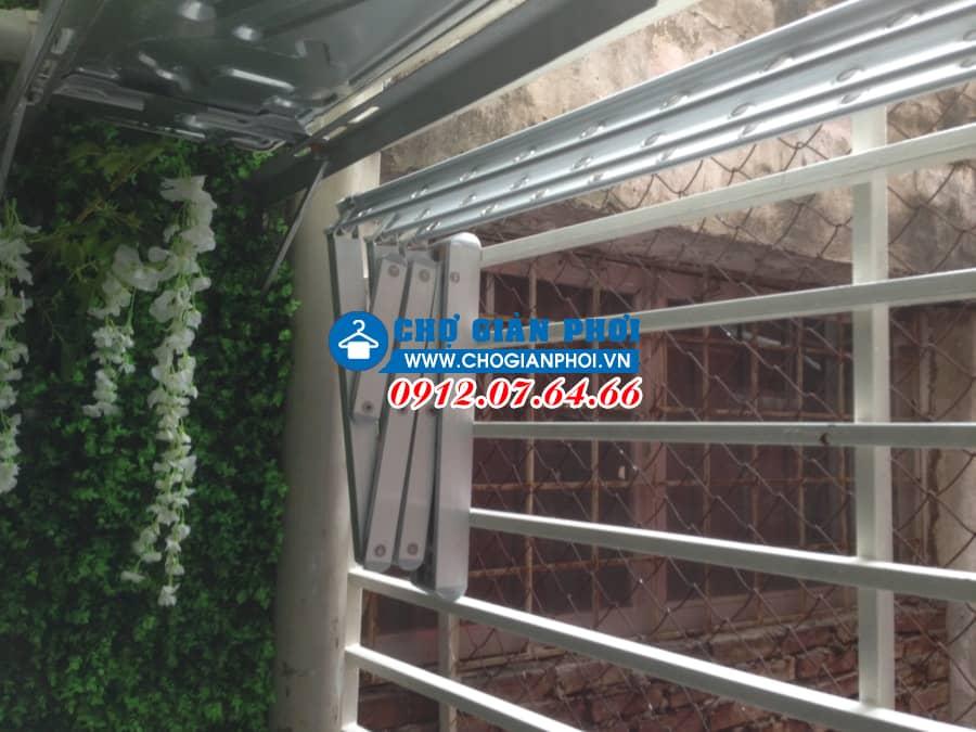 Lắp giàn phơi xếp tường Hàn Quốc tải trọng 100kg – Khu Đô Thị Văn Phú – Hà Đông
