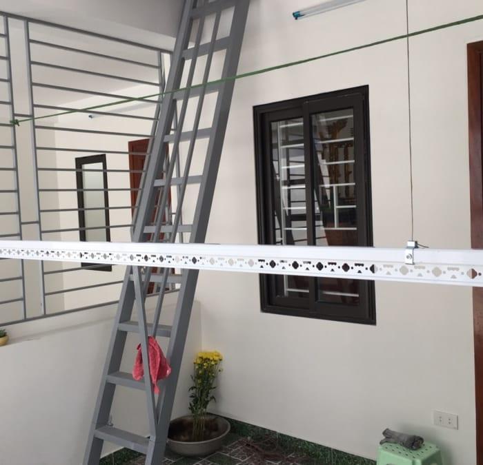 Lắp đặt giàn phơi và lưới an toàn chung cư GoldSeason 47 Nguyễn Tuân – bộ giàn phơi HP999B