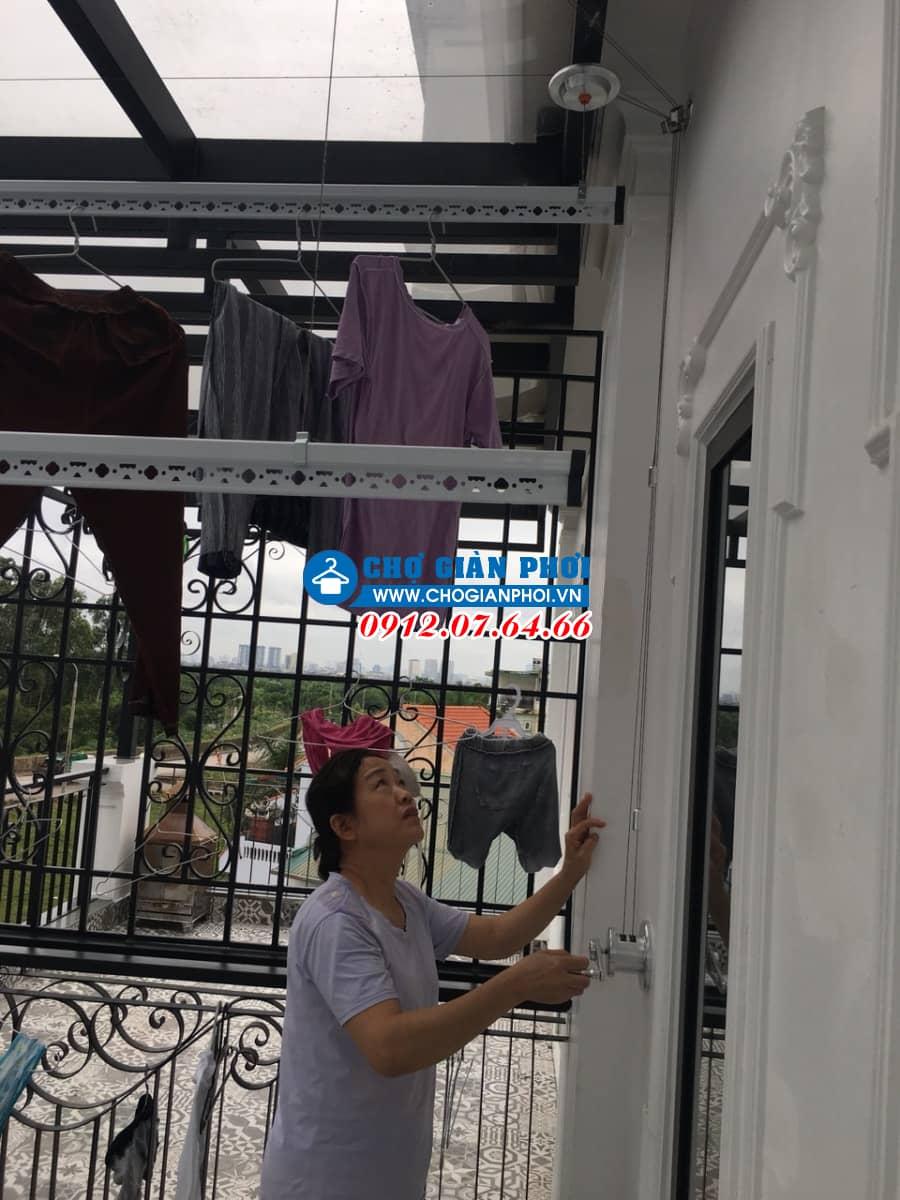 Lắp đặt giàn phơi thông minh Sankaku S03 – An Khang Villa – Hà Đông