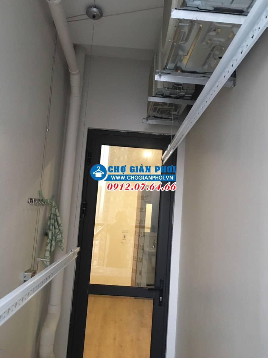 Lắp bộ giàn phơi Hòa phát 999B tại ban công nhà Anh Hiếu tòa Chung cư K-Park, Văn Phú, Hà Đông