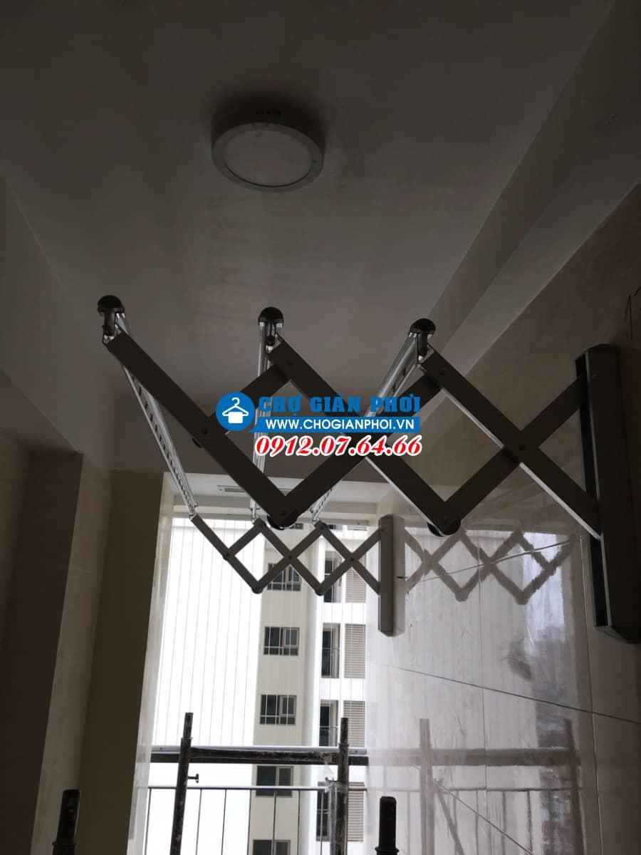 Lắp đặt giàn phơi thông minh Hoàn Kiếm nhà Chị Dung Xếp tường Hàn Quốc HT-16 Số nhà 5 ngõ 10 Phố Trịnh Hoài Đức