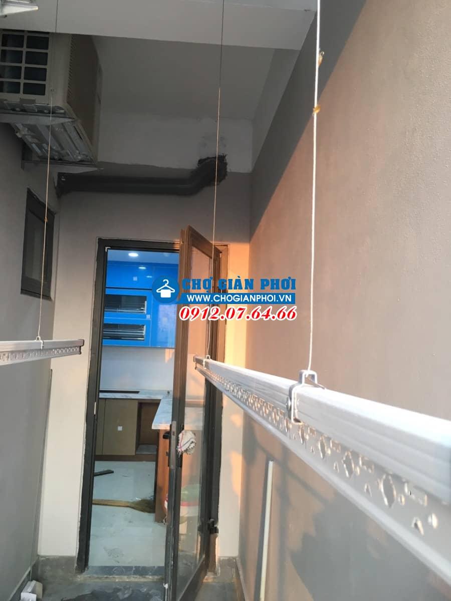 Lắp giàn phơi thông minh tại Chung cư CT9, KĐT Định Công, nhà Anh Kiên Phòng 206