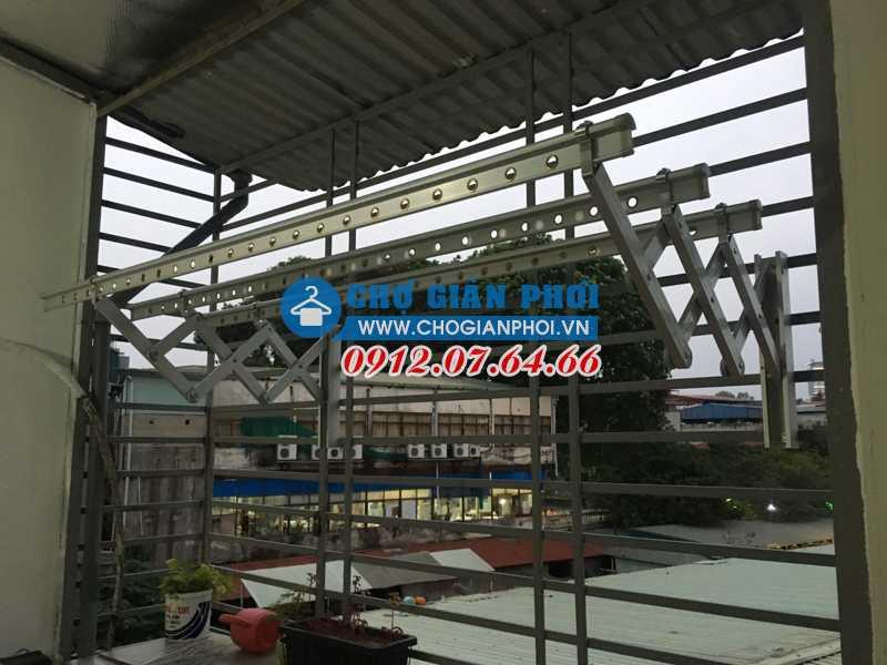 Lắp giàn phơi gắn tường Hàn Quốc Sinsung SU-100 tại Bắc Từ Liêm, Hà Nội cho nhà Chị Huệ