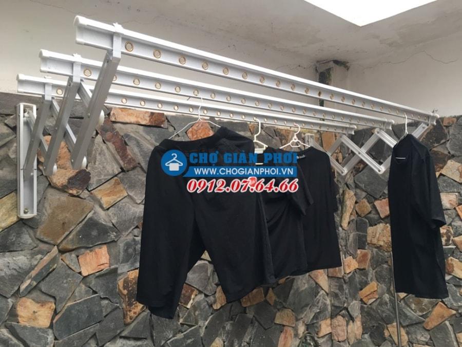 Lắp giàn phơi gắn tường cao cấp nhập khẩu Hàn Quốc tại Yên Hòa – Cầu Giấy nhà Chị Chín