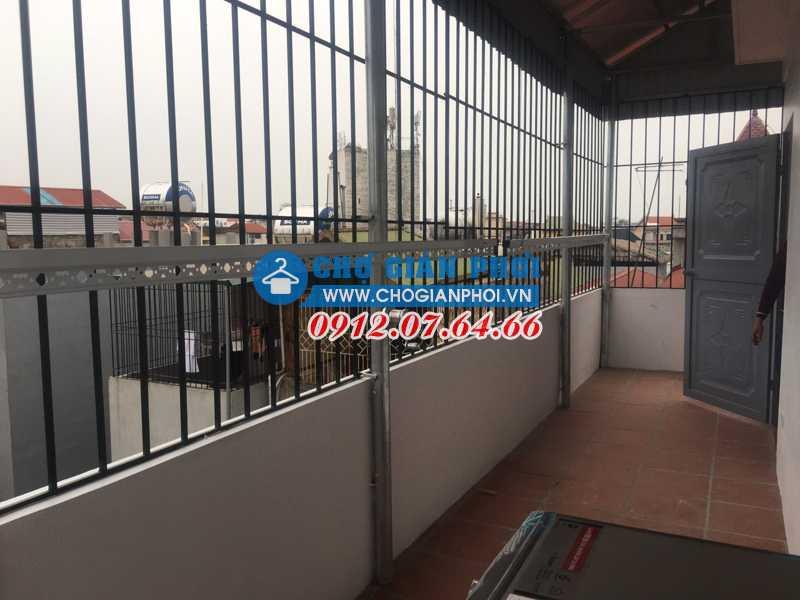 Chợ giàn phơi lắp giàn phơi KS950 tại Ngọc Thụy,  Long Biên cho nhà Cô Mai