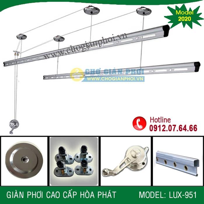 Giàn phơi thông minh cao cấp Hòa Phát LUX-951 (Model 2020)