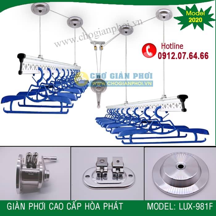 Giàn phơi thông minh cao cấp Hòa Phát LUX-981F (Model 2020)